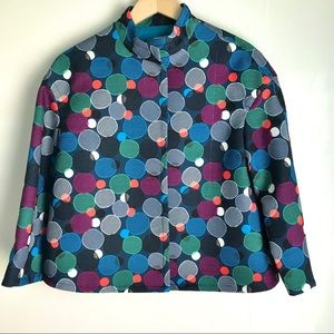 ANNE KLEIN Jacket Blazer Coat Bubble Geo Circles 6